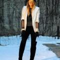 Black boots black forever 21 pants silver forever 21 blazer black h m