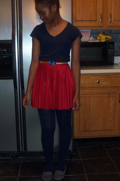 Red From Mom Vintage Skirts Gray Payless Shoes Blue