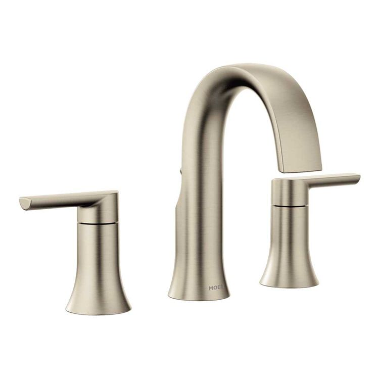 moen ts6925bn doux two handle widespread lavatory faucet brushed nickel