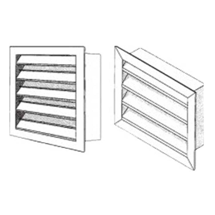 8X8 Driftwood Tan Stationary Outside Air Louver (Aluminum