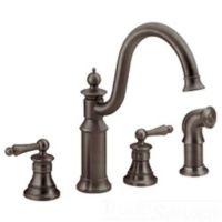 Moen S712ORB Waterhill Two Handle Kitchen Faucet in Oil ...