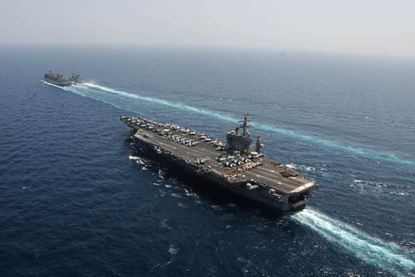 Six Aircraft Carriers Underway Marks Milestone for Navy