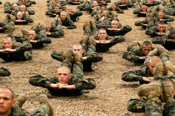 Company C Marines training in San Diego