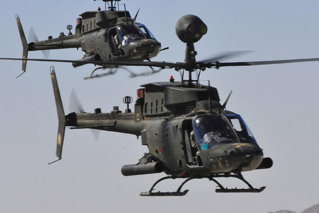 Armys Last Kiowa Scout Helicopter Squadron Switching to Apaches  Militarycom