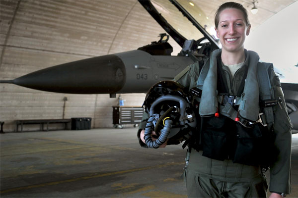 Female Air Force Fighter Pilot Stands Alone  Militarycom