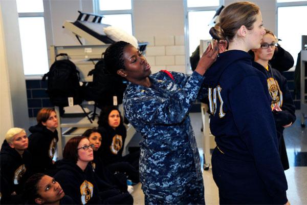 Navy Begins RTC And OTC Female Haircut Pilot Program