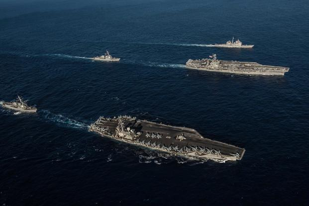 US Positions 2 Carriers in Philippine Sea in Show of Strength to China  Militarycom