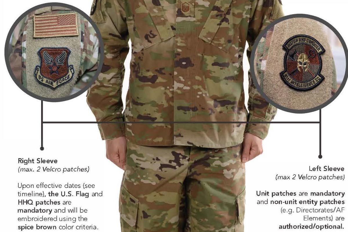 Current Uniform Patches OK for Air Force OCP  for Now  Militarycom