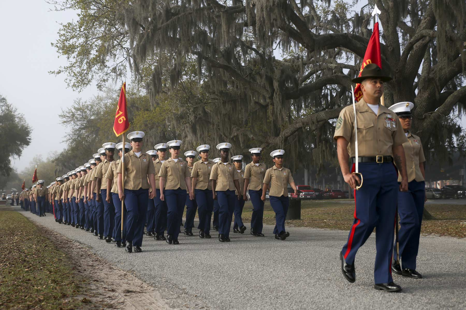 First Marine CoEd Boot Camp Company Graduates at Parris Island  Militarycom
