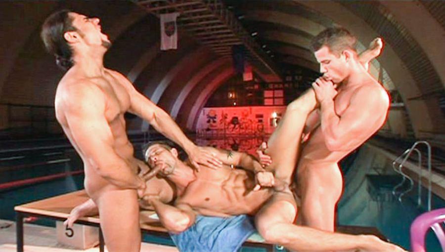 Carne Swim 2, Scene # 03   Martin Hubai, Fredy Costa, Claudio Antonelli (ragingstallion)
