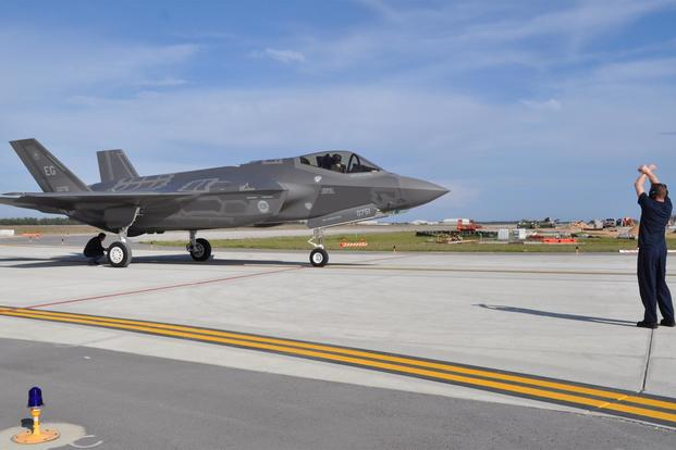 Eglin F-35 Ends Up on Nose on Runway After Series of Mishaps ...