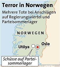 Bomben-Terror in Norwegen - Mehrere Tote