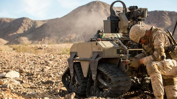 Mutt Robot Stands Back at Big Marine Training Exercise