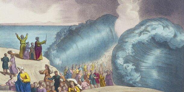 Moses hat das Rote Meer tatschlich geteilt