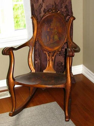 Antique Rocking Chair Rocker Early 1900s FH Conants