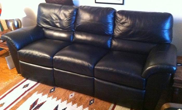 Lazy Boy Reese Leather Sofa You Inpiration