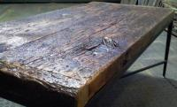 """RECLAIMED BARN WOOD COFFEE TABLE - ONE OF A KIND """"CRAGGLE ..."""