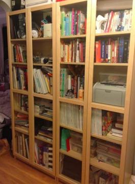 Ikea Billy Bookcases WGlass Doors For Sale In New York