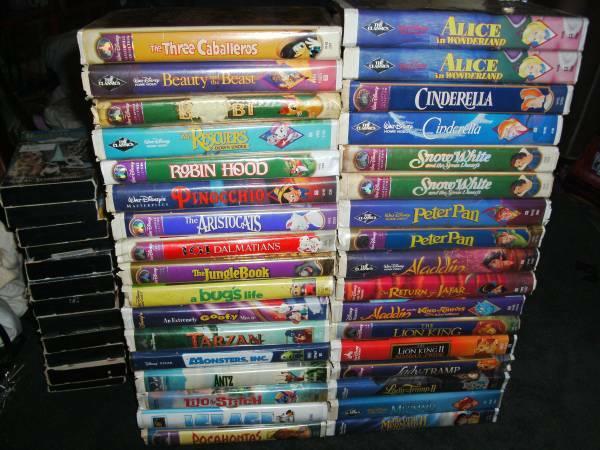 106 VHS Kids Movies DisneyPokemonTMNTTransformers all