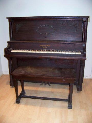 1911 Krakauer Brothers Ny Cabinet Grand Upright Piano