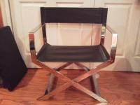 1960s mid-century directors chair chrome metal for Sale in ...