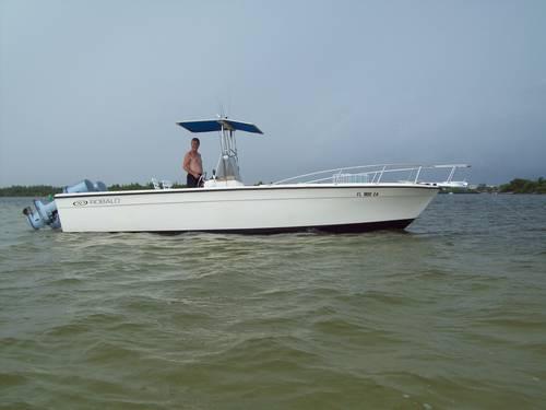 1980 Robalo 256 Boat 25 Twin Yamaha 200 Trailer TTop