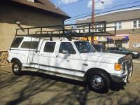1989 Ford f350 Picked Up (dually) Crew Cab with roof rack ...