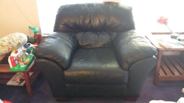 oversized leather chair and ottoman compact travel beach chairs 2 black ashley furniture