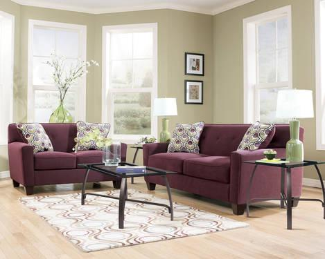 eggplant sofa serta sleeper reviews 2 pc danielle set furniturequeen com for sale in