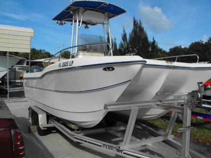 2001 Nautico Seagull 20 Power Fishing Catamaran Twin Yamaha 4 Stroke Traile For Sale In