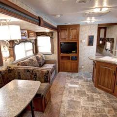 Rear Kitchen Travel Trailers White Table And Chairs 2011 Keystone Cougar X-lite 31sqb Bunkhouse W/ 2 Slides ...