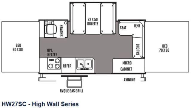 2015 Flagstaff High Wall Series Folding Camper Model
