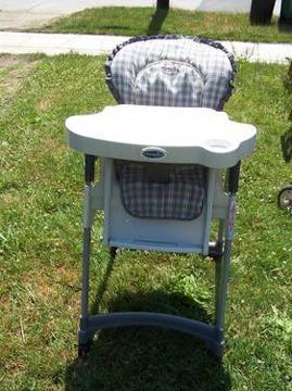 evenflo easy fold high chair little tikes pink and purple table chairs highchair 8 adjustments many nice features for 45
