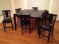 OBO Tall Large Kitchen Table - Black - 6 Chairs - for Sale ...