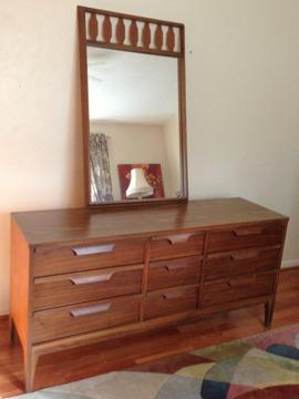 OBO midcentury modern   KING BEDROOM SET by  Johnson