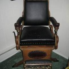 Antique Wood Barber Chair Pier 1 Chairs Dining Very Rare Archer Wooden Submarine Model For Sale In 9 500