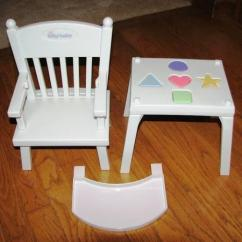 American Girl High Chair Stool Modern Bitty Baby Highchair W Shapes Retired Like New For