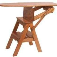 Chair Step Stool Ironing Board Recliner Chairs For Elderly Amish Oak 3 In 1 Seat Mt