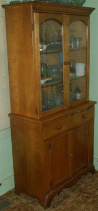 Antique China Cabinet Dovetail Glass Doors for Sale in ...