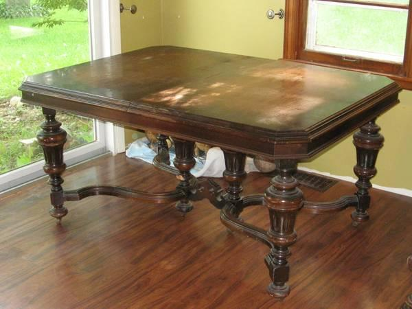 Antique Dining Table China Cabinet Buffet For Sale In