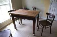 Antique Game Table/4 chairs