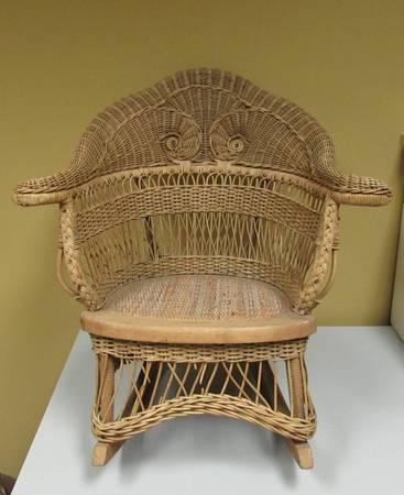 alabama rocking chair leather club pottery barn antique heywood wakefield child wicker victorian