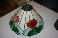 Antique Leaded Stained Glass lamp shade from England for