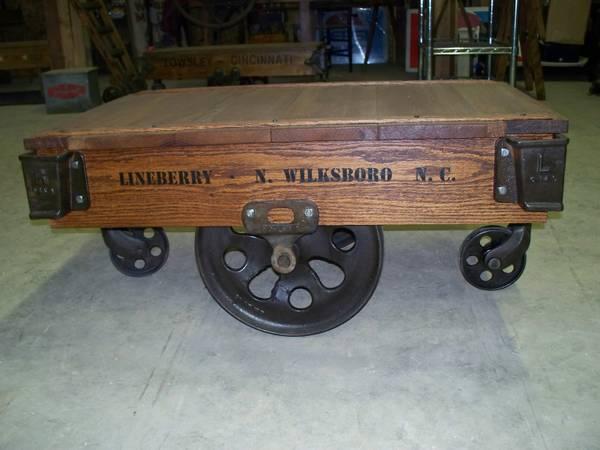 antique lineberry factory cart