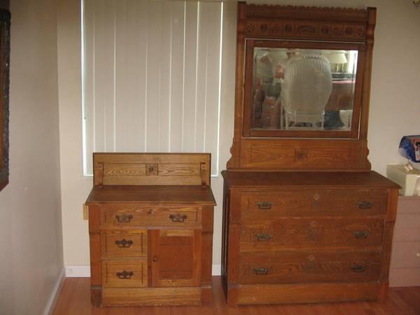 Antique Oak dresser and dry sink  for Sale in Jensen Beach Florida Classified  AmericanListedcom