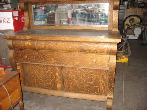 ANTIQUE Sideboard Buffet Quarter Sawn Tiger Oak With