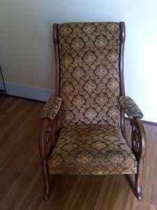 wicker rocking chair chairscape contact details antique upholstered 30/40's - (depew village) for sale in buffalo, new york ...