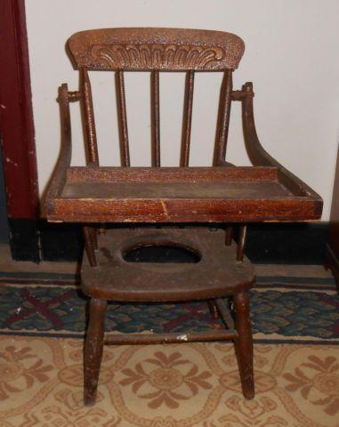 wooden potty chair folding with umbrella antique victorian child s wood for sale in grantville pennsylvania