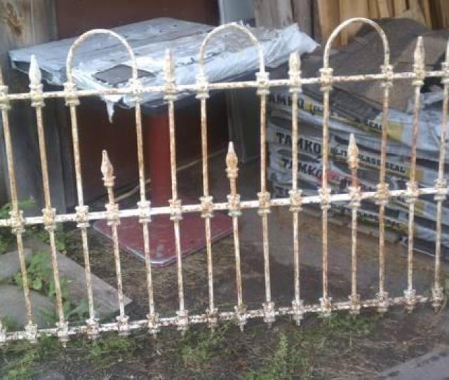 Antique Victorian Four Piece Wrought Iron Fence