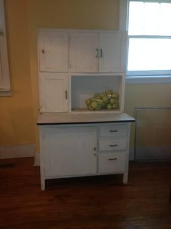 Antique White Hoosier Cabinet For Sale In Jackson